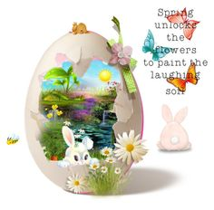 """Easter egg"" by eivissa1 ❤ liked on Polyvore featuring art"