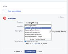 """Editing my position on Facebook.  """"Founding member & stripper"""" ?  Is that a thing?"""
