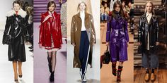 Patent Leather Trench Coats  - ELLE.com