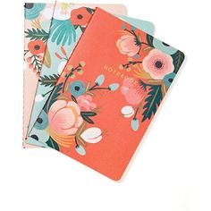 Rifle Paper Co. Botanicals Notebook Set ($8.36) ❤ liked on Polyvore featuring home, home decor, stationery, fillers, books, stuff, things and multi
