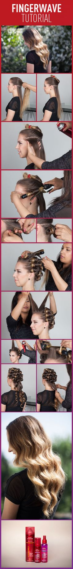 How To Finger Wave....without finger wave lotion