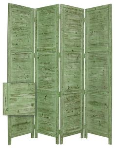 Love this green Cedar Wood Room Divider.  houzz.com