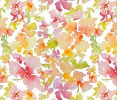 Petal Expressions flower fabric at Spoonflower.