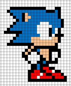 Sonic cross stitch