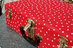 Vintage Suitcase in Dashing Red Polka Dots! - Abbie's Road - Percy & Bloom