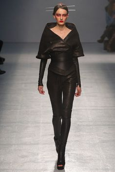 Gothic Couture: Gareth Pugh Spring 2013 RTW. Via Style.com.