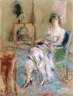 Portrait of Madame Rosengart Edouard Vuillard - circa 1924-1925