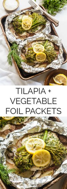 Herbed Tilapia and Vegetable Foil Packets http://thenoshery.com/herbed-tilapia-foil-packets/?utm_campaign=coschedule&utm_source=pinterest&utm_medium=The%20Noshery&utm_content=Herbed%20Tilapia%20and%20Vegetable%20Foil%20Packets