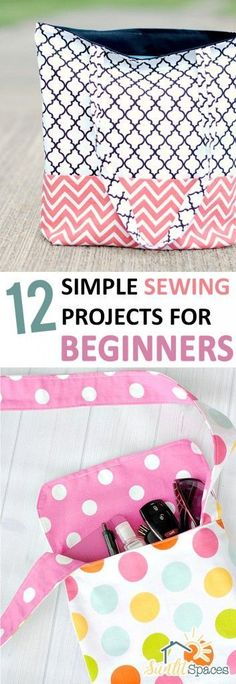 12 Simple Sewing Projects for Beginners| sewing Projects, Sewing Projects for Beginners, Beginner Sewing Projects, Crafts, Craft Projects, Quick Craft Projects, Crafting, Crafting Hacks, Popular Pin