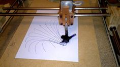 Homemade pen plotter