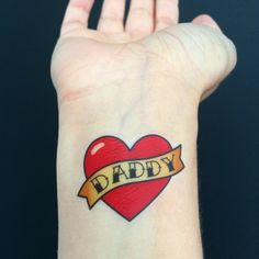 15 Custom Old School Heart Temporary Tattoos by LoveAndLion