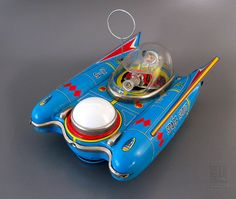 Yanoman SPACE SCOUT S-17 vintage battery-operated space toy from Japan