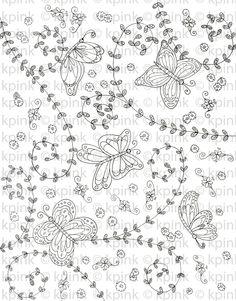Butterfly Pattern-Digi Stamp