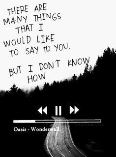 Oasis Lyrics, Oasis Music, Lyrics Aesthetic, Book Aesthetic, Pretty Words, Beautiful Words, Oasis Quotes, Wonderwall Oasis, Oasis Band