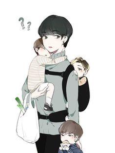Aweeee is that minyu in papa scoop's arms??