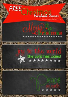 Free Christmas Facebook Covers!