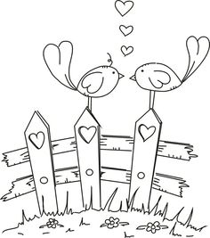 Love Birds | Colouring ~ Owls ~ Birds ~ Zentangles ~ Doodles | Pinter…