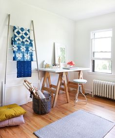 House Tour with Erin of Francois et Moi Work Surface, Desk Accessories, Wishbone Chair, Beautiful Space, Creative Inspiration, House Tours, Craft Supplies, The Creator, Diy Projects
