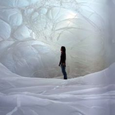"""""""Spanish artist Olga Diego creates interactive inflatable sculptures and installations."""""""