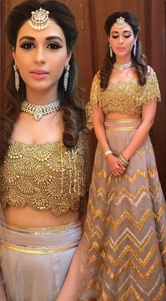 50 Latest Trendy Designer Blouses With Images 2019 - Buy lehenga choli online Lehenga Designs, Saree Blouse Designs, Golden Blouse Designs, Blouse Back Neck Designs, Indian Attire, Indian Outfits, Lehnga Dress, Lehenga Blouse, Designer Bridal Lehenga