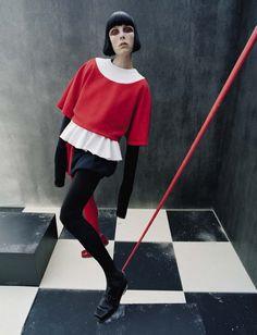 """Check-Mate""   Model: Edie Campbell, Photographer: Tim Walker, Vogue Italia, December 2015"