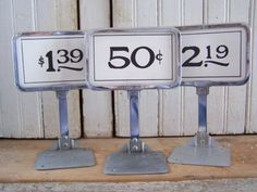 vintage store price display stand