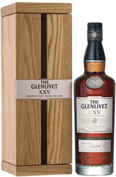 The Glenlivet XXV Single Malt #Scotch Whisky. Aged for 25 years, this #whisky earned a score of 95 points from the Beverage Testing Institute. | @Caskers