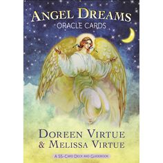 """In this accessible card deck, Doreen Virtue and Melissa Virtue reveal the meaning behind 55 basic dream symbols. The accompanying guidebook explains how to conduct """"dream readings"""" to resolve your dee"""