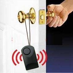 Manija de la puerta manija de la puerta toque de alarma 120 dB de alarma antirrobo cicatrización thefting perilla de puerta de seguridad de alarma sirena hotel alarma de seguridad