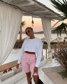 E S (@itslibes) • Instagram photos and videos Lounge Shorts, White Shorts, Photo And Video, Instagram, Videos, Women, Photos, Style, Fashion