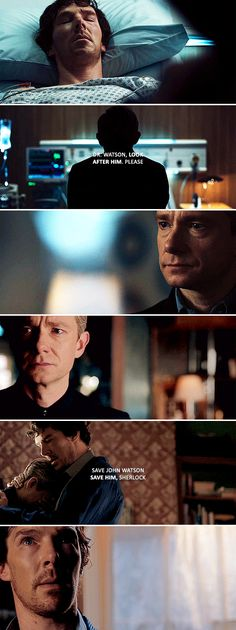 Don't think anyone else is going to save him, because there isn't anyone.  #sherlock
