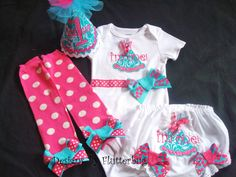 Items similar to PERSONALIZED Birthday Bodysuit , Bloomer, Hat and Leg Warmer Set- Smash Cake Birthday Outfit-Aqua and Fushia with party hat applique on Etsy 1st Birthday Outfits, Happy Birthday, Cake Smash Outfit, Baby Bloomers, Party Hats, Leg Warmers, Cute Babies, Onesies, Bodysuit