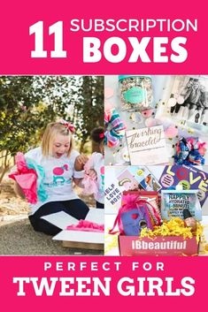 These awesome subscription boxes for tween girls are exactly what you need if you're looking for activities for tweens or a great tween girl gift idea! Monthly crates for tween girls with everything from accessories and beauty products to clothes and crafts! There's a tween girl subscription box perfect for your favorite tween! Make the gift giving part of parenting tweens easier! #tweens #tweengirl #tweengirlgifts #subscriptionboxes Tween Girl Gifts, Tween Girls, Subscription Boxes For Tweens, Craft Activities For Kids, Crafts For Kids, Monthly Crates, Kids Up, Raising Kids, Kids Christmas