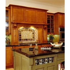 kitchen stove surround ideas | ... Cabinetry Kitchen Island & Stove Surround from Black Cove Cabinetry