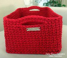 Cesto Organizador Croche Fio de Malha.  http://www.vitrine.elo7.com.br/entrefioseencantos