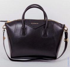 Сумка Givenchy Antigona из натуральной кожи, черная