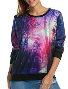 Women's Galaxy Printing Galaxy Pocket Hooded Sweatshirt Pullover *** Read more at the image link. (This is an affiliate link) Printed Sweatshirts, Hooded Sweatshirts, Color Patterns, Print Patterns, Tracksuit Tops, Galaxy Print, Fashion Outfits, Clothes For Women, Fashion Hoodies