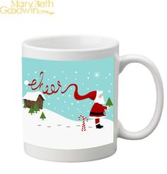 Christmas Mug by MaryBethGoodwin on Etsy, $16.50