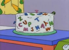 A special cake for Homer to ruin. Delicious Cake Recipes, Yummy Cakes, Goat Cartoon, Homer Simpson, The Simpsons, Party Planning, Childhood, Ruin, Make It Yourself