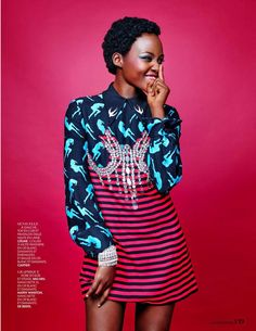 """Supreme Lupita"" Lupita Nyong'o for Madame Figaro December 2015"
