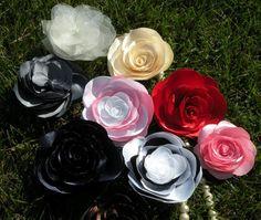 fiori in stofa raso
