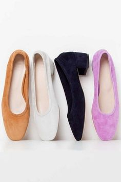 See our pick of the best block heel ballet pump, inspired by the catwalk, this spring/summer 2016