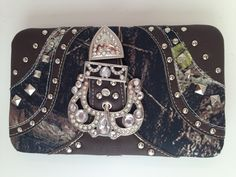 Camo Wallet with Rhinestones