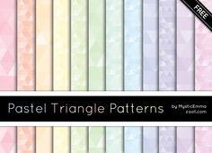 Pastel Triangle Patterns by MysticEmma.deviantart.com on @deviantART