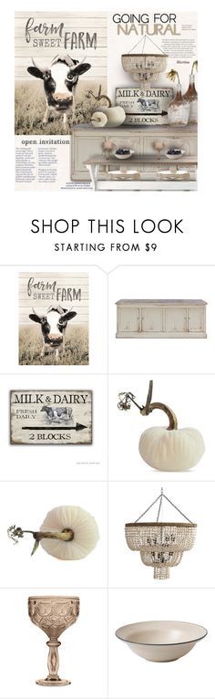 """""""Plush Pumpkin"""" by thewondersoffashion ❤ liked on Polyvore featuring interior, interiors, interior design, home, home decor, interior decorating, DutchCrafters, Arteriors, Baci and Royal Doulton"""