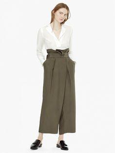 MANGO Premium-Palazzo Cupro Trousers