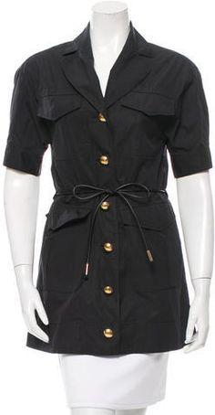 Louis Vuitton Notch-Lapel Belted Tunic Women Tunic, Tunic Tops, Louis Vuitton, Shirt Dress, Stylish, Coat, Jackets, Shirts, Dresses