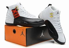The Air Jordan 12 (XII) Original (OG) Taxi ( White / Black) was released in November of 1996. They feature a white and black make up, along with gold accents, as seen on the lacing eyelets. They are dubbed the Taxi's, as the arch area and outsole feature a black and yellow portion, reminiscent of NYC taxi cabs. http://www.cheapjordanmaxshox.com/