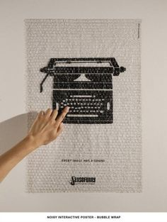 poster on bubble wrap