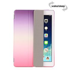 Rainbow Stand Leather Case For ipad mini 1 2 3 Silk Slim Clear Transparent Smart Back Cover for apple ipad Mini Case